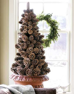 Pine cone crafts inspiration for Pine cone christmas tree craft project