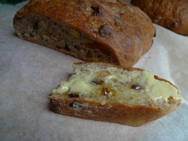 Pistachio and apricot bread
