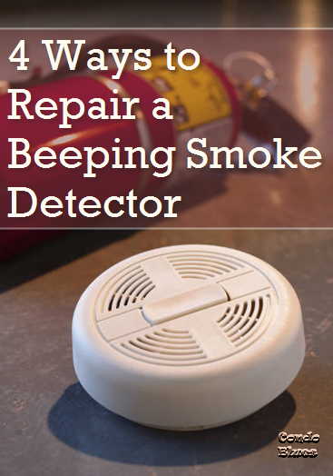 how do i stop my smoke detector from chirping