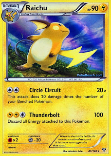 Raichu Pokemon X and Y Card