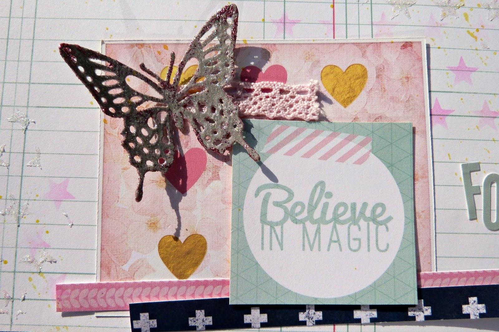 best friends scrapbook layout Tracee Provis Bo Bunny Sweet Life 02