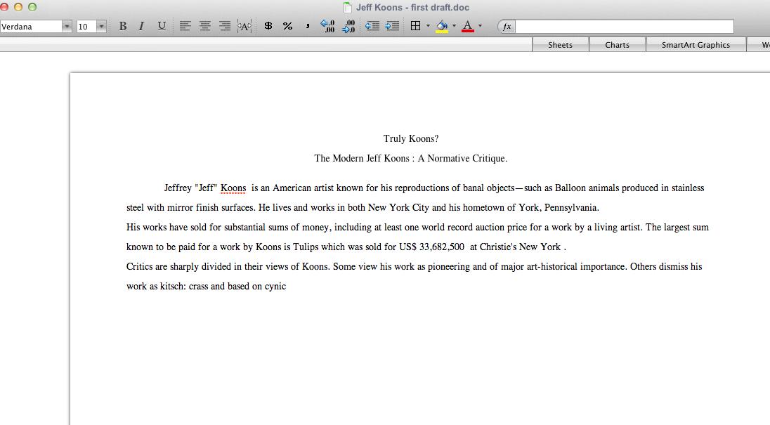 essay critique format
