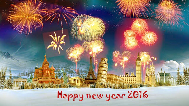 HD Image of Happy New Year 2016 for whatsapp