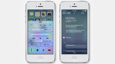 iphone 5s control and notification center