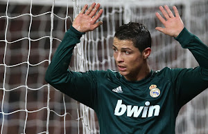 Ronaldo after scoring against Manchester United