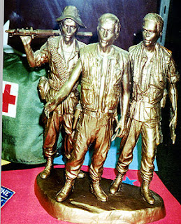 Statue of three soldiers from the Vietnam War