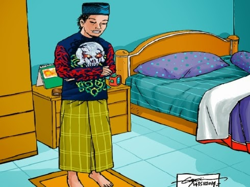 hukum solat menggunakan pakaian bergambar