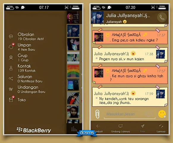 Download BBM Mod A-Style v2.7.0.23 APK Android