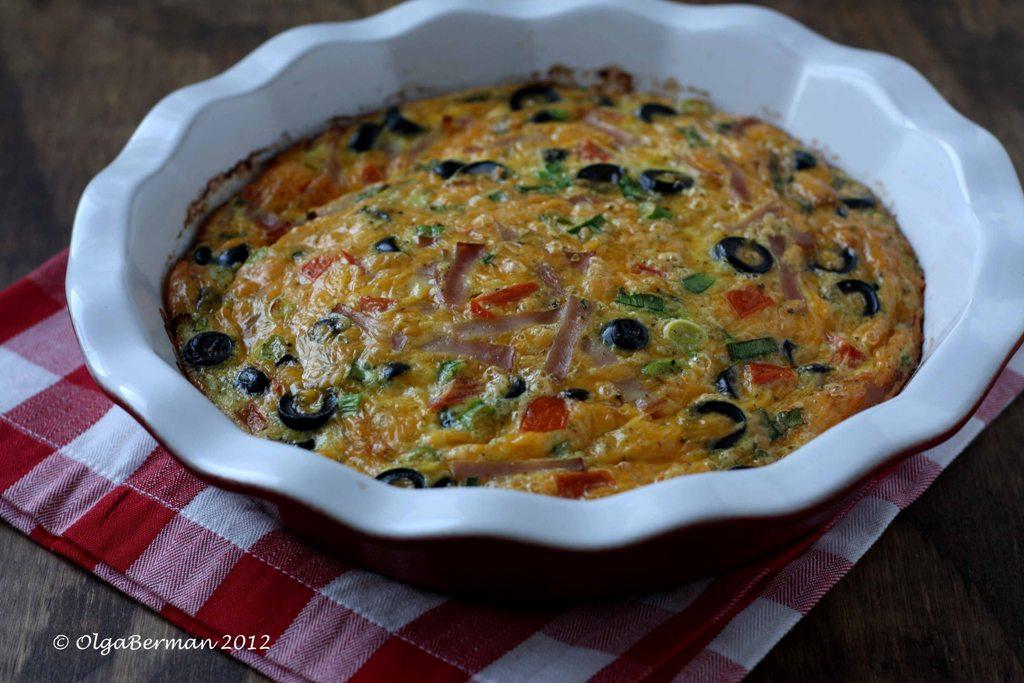 Mango & Tomato: Tomato Olive Frittata: Freelancing for ...