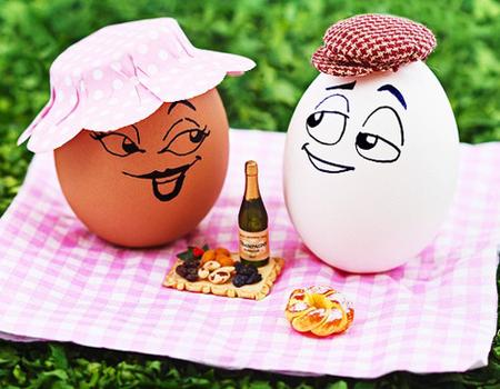 Яйца с личица - забавна великденска украса
