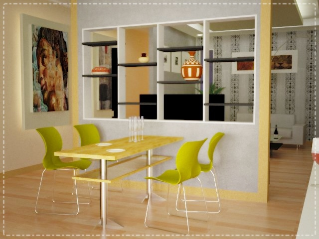 desain rumah minimalis yellow kitchen design architecture