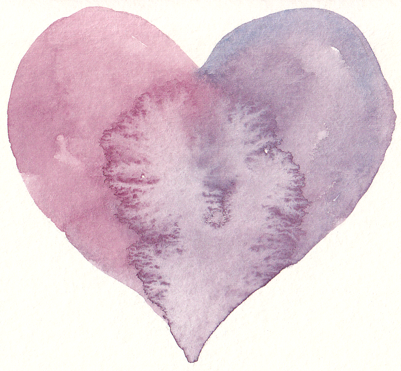 Free Watercolor Heart Clip Art