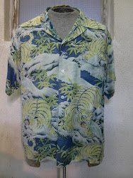 50's 虎柄 HAWAIIAN SHIRTS