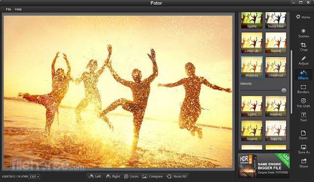 برنامج Fotor لتعديل واضافة تأثيرات مميزة لصورك باحترافيه