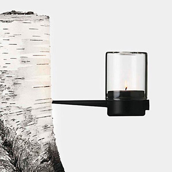 luminaria en el tronco enterrada