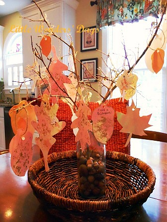 fun fall family traditions tree, homemade water color paints, arts and crafts kids
