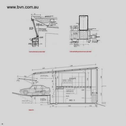 Plano de arquitectura de casa de metal en Australia
