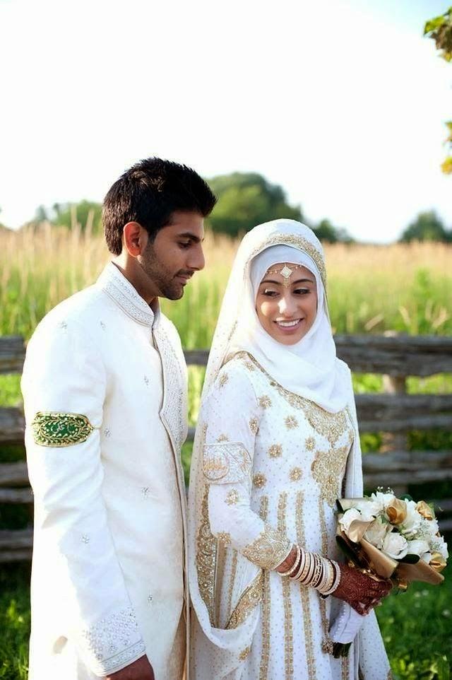 Baju Pengantin Muslim Syari terbaru