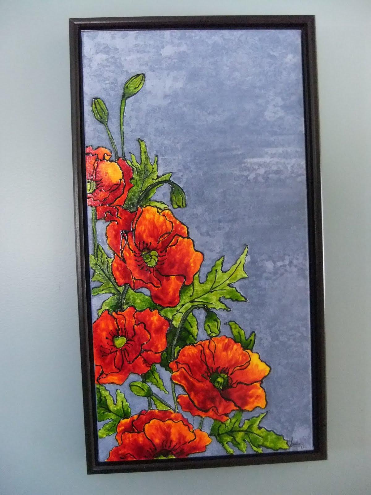 Loulou artiste faux vitrail for Faux vitrail sur miroir