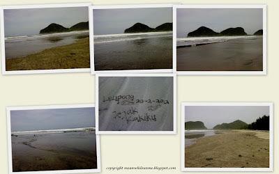 Pantai Leupong dengan Pasir Basah