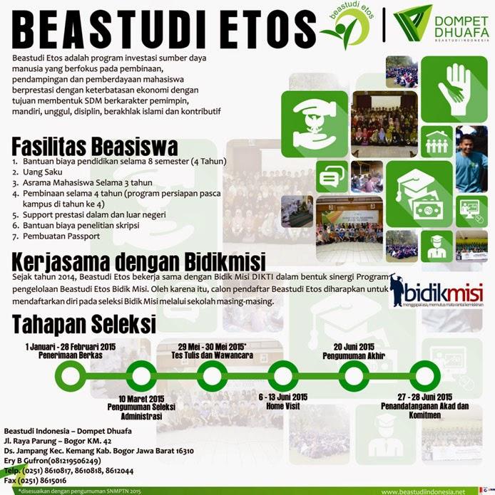 Info Beasiswa 2015 di Beastudi Etos 2015