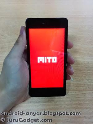 Logo Mito pada saat booting pertama kali