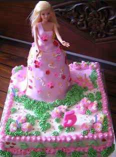 Resep dan Cara Menghias Kue Tart Barbie