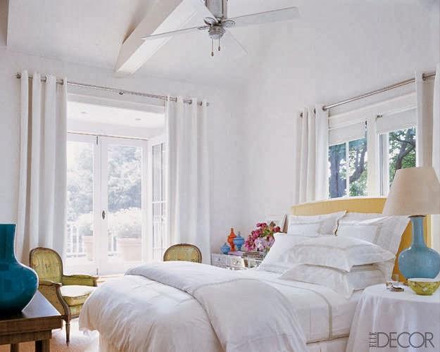 Decoraci n f cil dormitorios de famosos - Cortinas vintage dormitorio ...