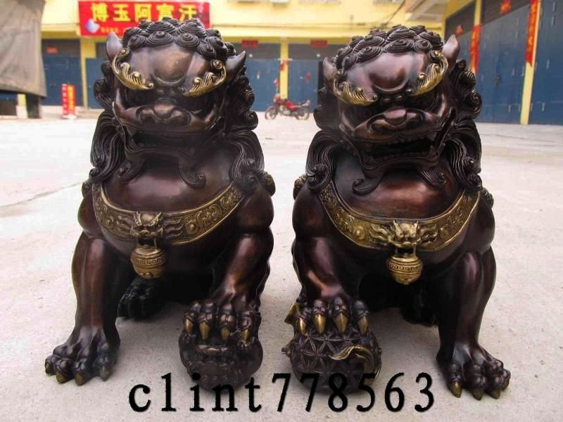 Chinese Guardian Temple Lions Foo Dogs Fu Dogs Feng Shui Tips
