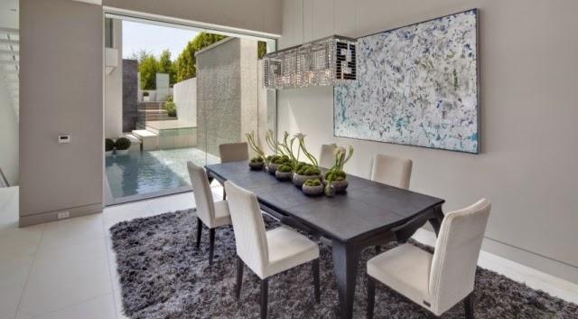 Comedores modernos en gris y blanco colores en casa for Muebles comedor blanco y gris
