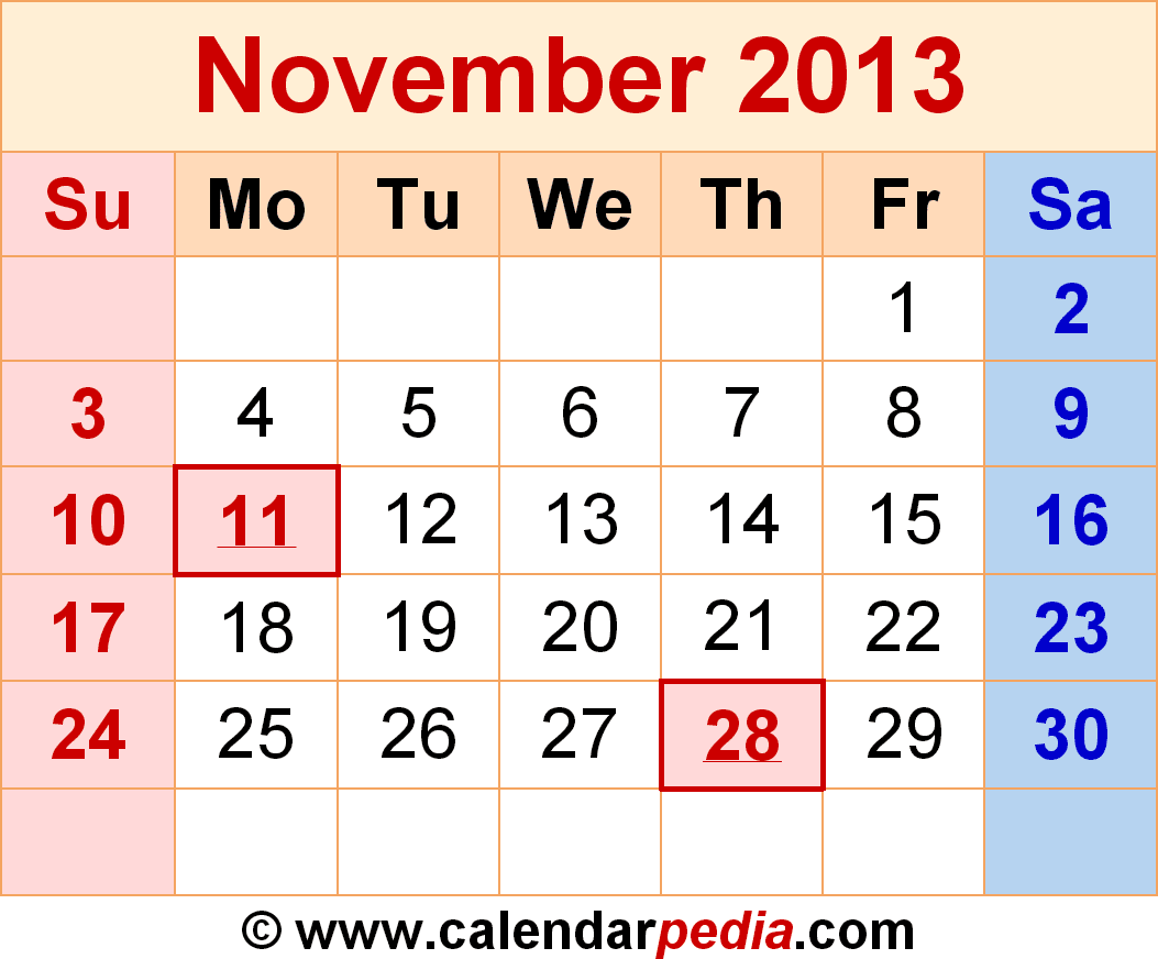 Search Results for: November 2013 Calendar With Holidays/page/2