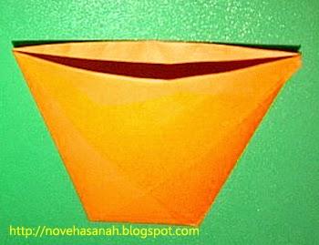 buka bibir gelas dan jadilah origami anda