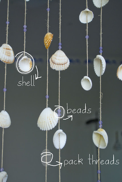shell curtain
