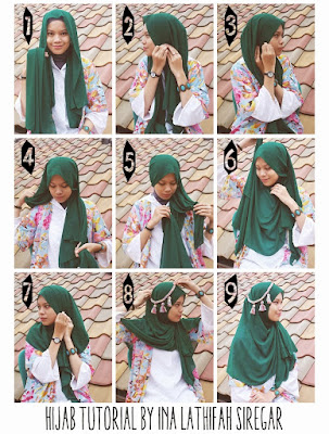 Tutorial Hijab Syar'i Sehari hari