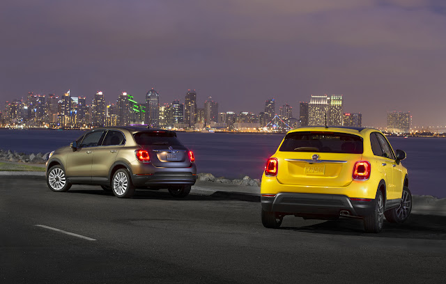 2016 NEw Fiat 500X comvetible cars back view
