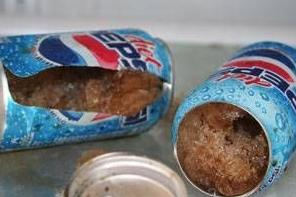 Warning: dont put your pepsi in Freezer!