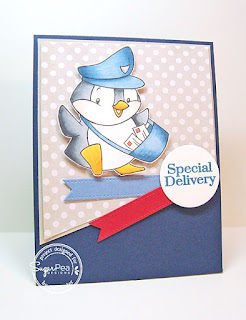 Special Delivery card-designed by Lori Tecler/Inking Aloud-stamps and dies from SugarPea Designs