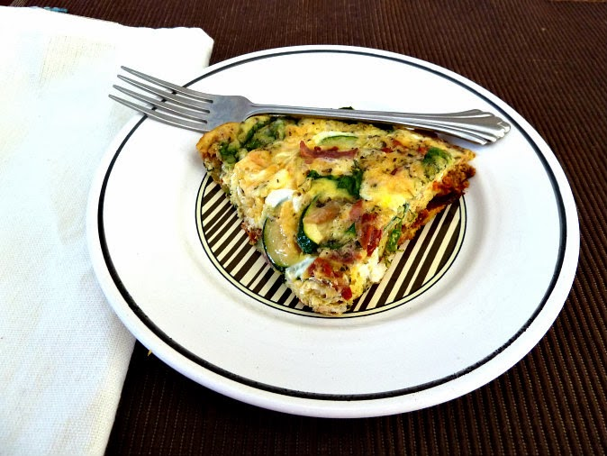 ... Tale of Two Loves: Spinach, Bacon, and Sun Dried Tomato Frittata