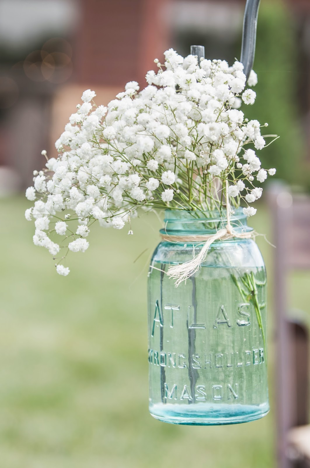 Baby's breath on Shepherd's Hook