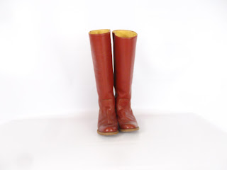 Vintage Cranberry Red Frye Leather Riding Boots / Karen Boots (size 7) Listing Stats