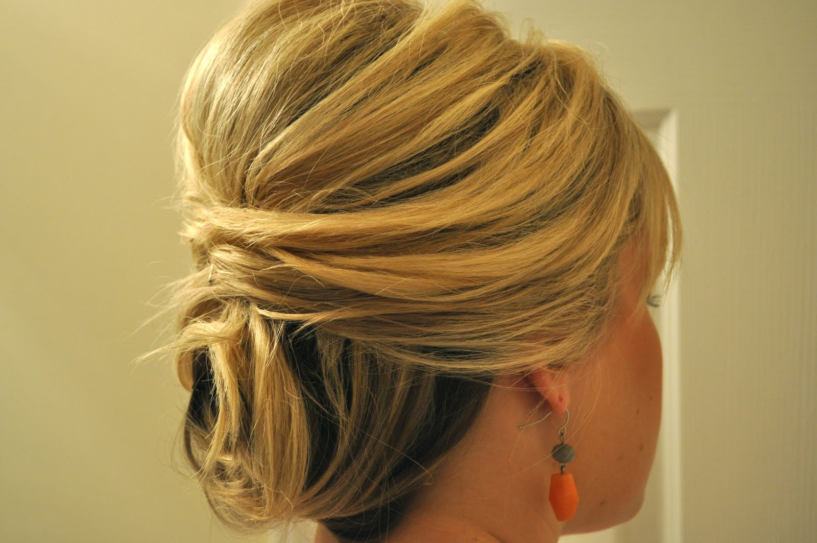 Hairstyles For Short Hair Upto Shoulders : updo that anyone can do! It helps to have hair approximately shoulder ...