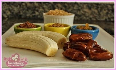 Receita de barrinha de banana e tâmaras