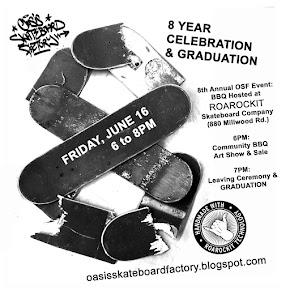 OSF Grad BBQ, Sale & Show: June 16, 6-8PM, Roarockit