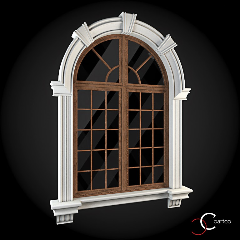 Ornamente Geamuri Exterior, Arcada fatade case cu profile decorative polistiren, profile fatada,  Model Cod: WIN-024