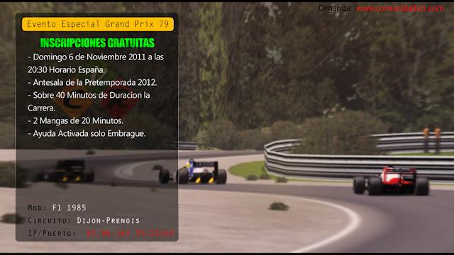 Evento en VCR Competicion Racing