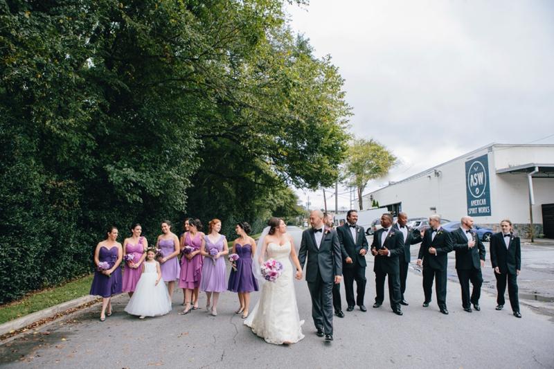 wedding party at american spirit works