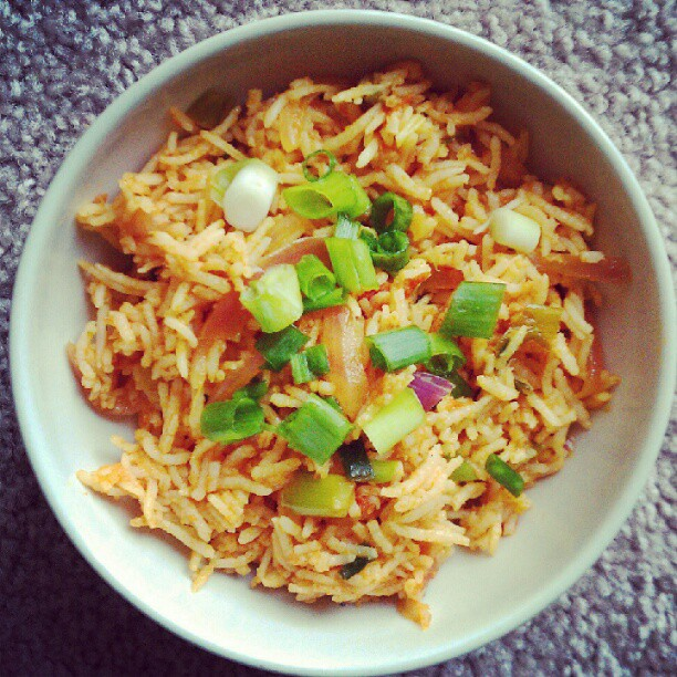 Tomato ricebiryani my cooking journal im not a big fan of tomato rice usually but this recipe from a friend got me hooked on to it i like to make it often now it is real quick and flavorful ccuart Choice Image
