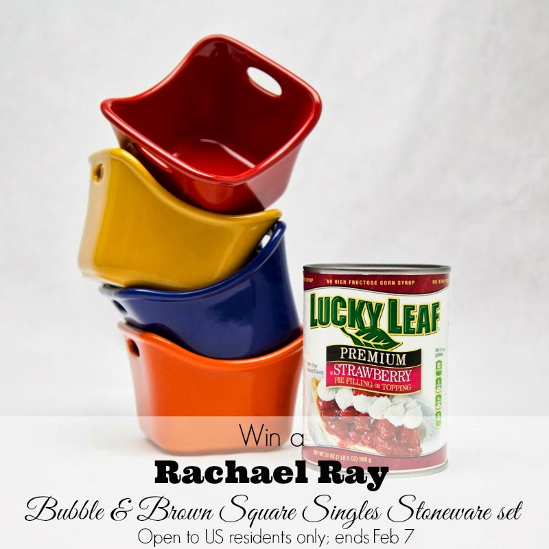 Win a Rachael Ray stoneware set from #LoveableLuckyLeaf; giveaway ends Feb. 7