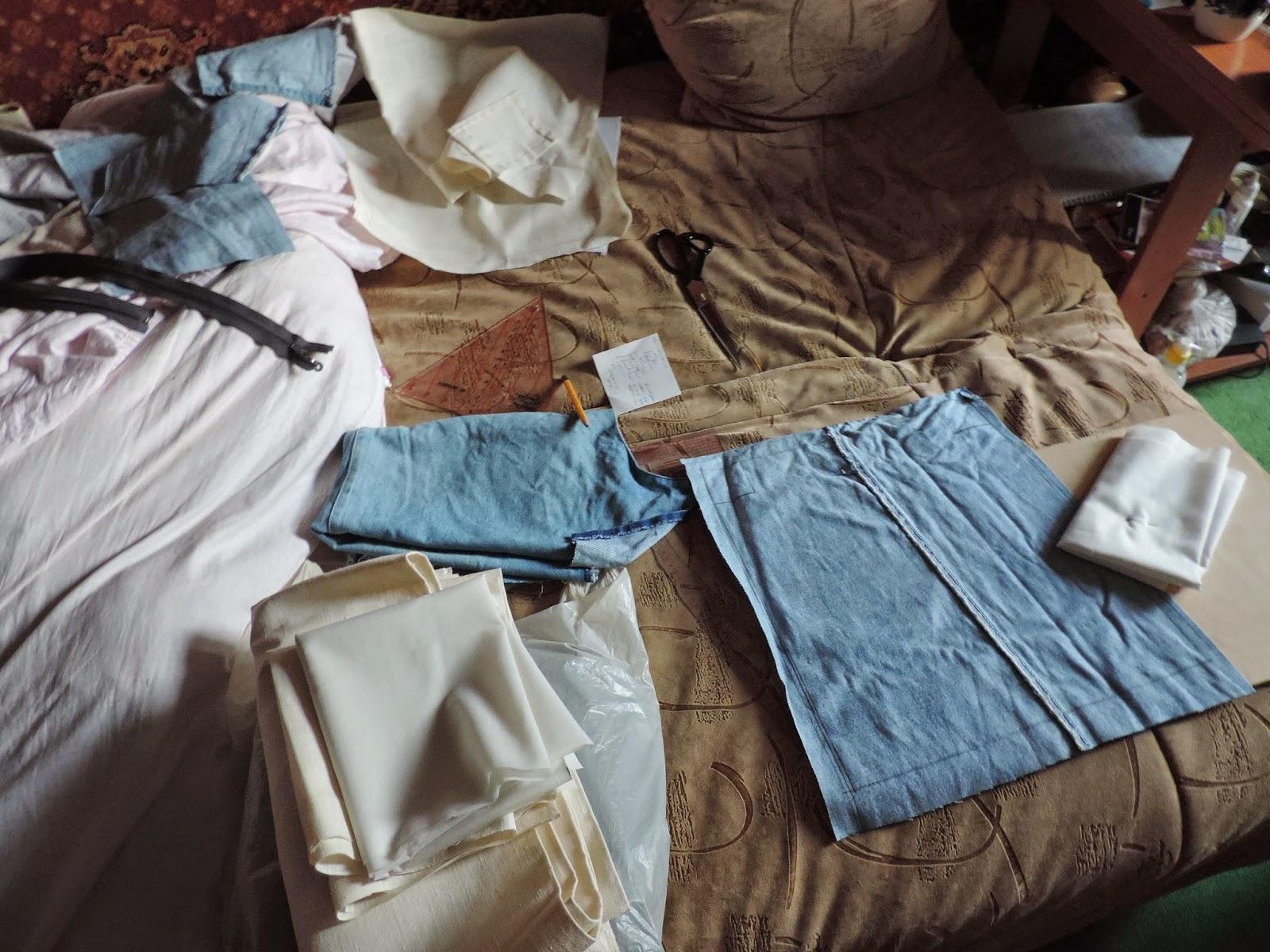 шьем из старых джинс, вторая жизнь старых вещей