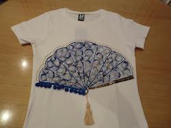 Camiseta Abanico Azul